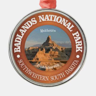 Ödland-Nationalpark Rundes Silberfarbenes Ornament