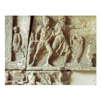 Odysseus, der die Bewerber seiner Ehefrau entdeckt Postkarte