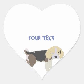 of sticker drawing of dog beagle
