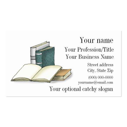 Offene Buch-Entwurfs-Visitenkarte