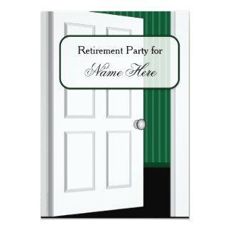Offene Tür-Ruhestands-Party Karte