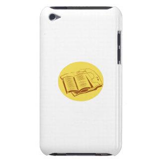 Offener Buch-Hinterkarten-Oval-Holzschnitt Case-Mate iPod Touch Case