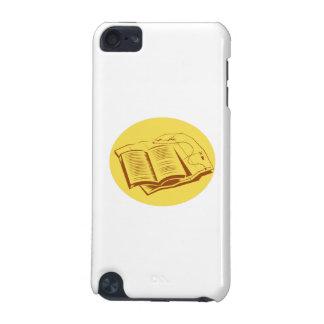 Offener Buch-Hinterkarten-Oval-Holzschnitt iPod Touch 5G Hülle