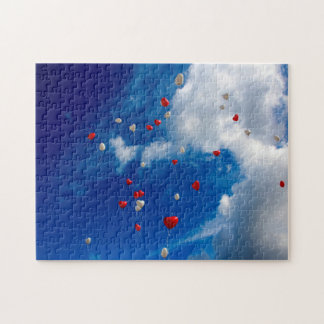 Offener Himmel mit Ballonen Puzzle