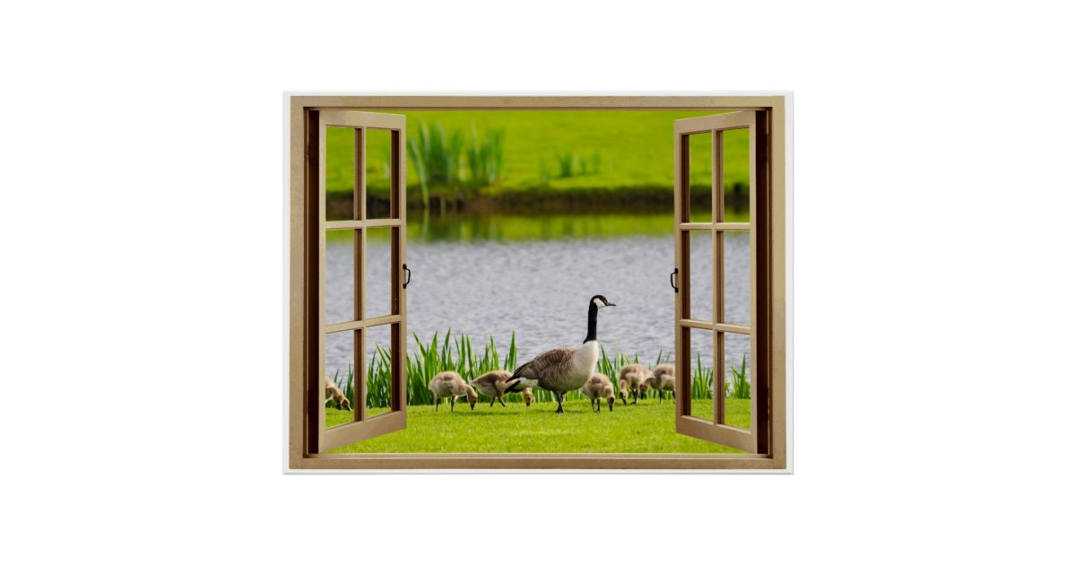 Offenes fenster  Offenes Fenster-Mutter Goose Poster | Zazzle