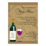 Offenes Haus-Einladungen, Wein-Thema