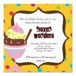 Offenes Haus-Eiscreme-Salon Einladungskarte