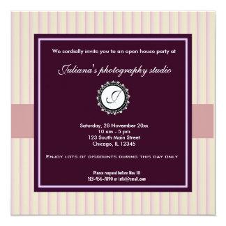 Offenes Haus-neues Geschäft Quadratische 13,3 Cm Einladungskarte