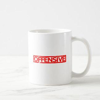 Offensive Briefmarke Kaffeetasse