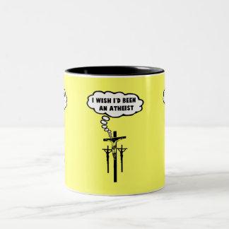 Offensiver Atheist Zweifarbige Tasse
