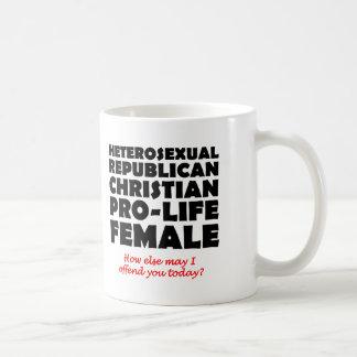 Offensiver republikanischer weiblicher kaffeetasse