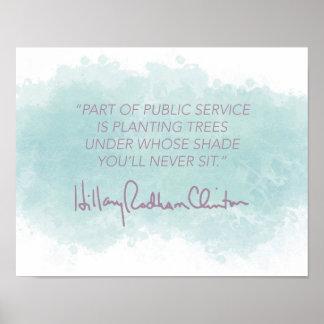 Öffentlicher Dienst - Hillary Clinton-Plakat Poster