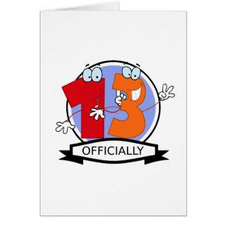 Offiziell 13 Geburtstags-Fahne Karte