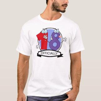 Offiziell 18 Geburtstags-Fahne T-Shirt
