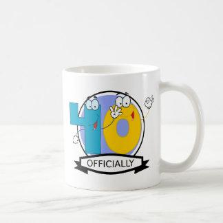 Offiziell 40 Geburtstags-Fahne Kaffeetasse