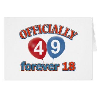 Offiziell 49 für immer 18 karte