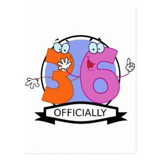 Offiziell 6 Geburtstags-Fahne Postkarte