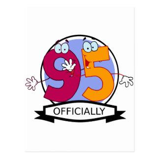 Offiziell 95 Geburtstags-Fahne Postkarte