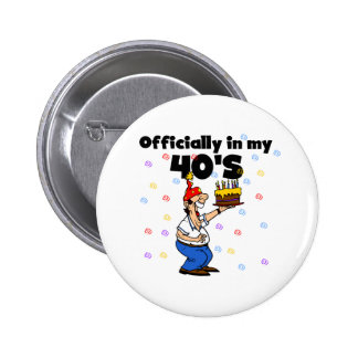 Offiziell in meinem 40s runder button 5,1 cm