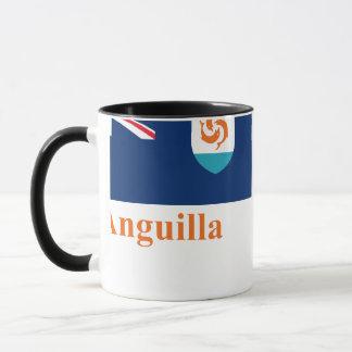 Offizielle Flagge Anguilla mit Namen Tasse