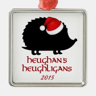 OFFIZIELLE Heughligans Verzierung 2015 Quadratisches Silberfarbenes Ornament