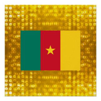Offizielle kamerunische Flagge Poster