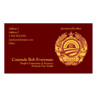 Offizielle Obammunist Teilcommissar-Karte Visitenkarten