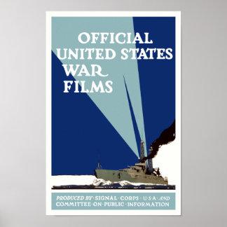 Offizielle Staat-Kriegs-Filme -- WWI Poster