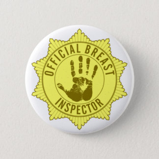 Offizieller Brust-Inspektor Runder Button 5,7 Cm