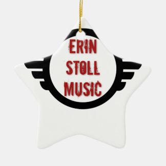 Offizieller Erin Stoll Musik-Flügel-Gang Keramik Stern-Ornament