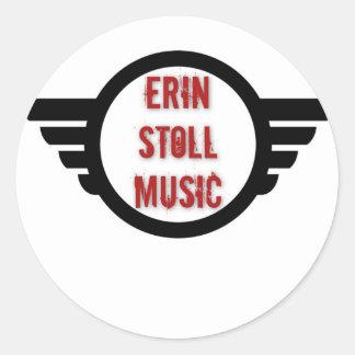Offizieller Erin Stoll Musik-Flügel-Gang Runder Aufkleber