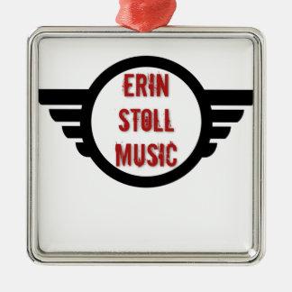 Offizieller Erin Stoll Musik-Flügel-Gang Silbernes Ornament