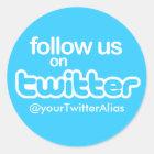 """Offizieller """"folgen Sie uns auf Twitter"""" Aufkleber"""