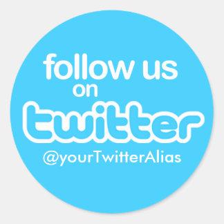 Offizieller folgen Sie uns auf Twitter Aufkleber