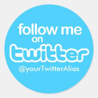 Offizieller Follow-me auf Twitter Aufkleber