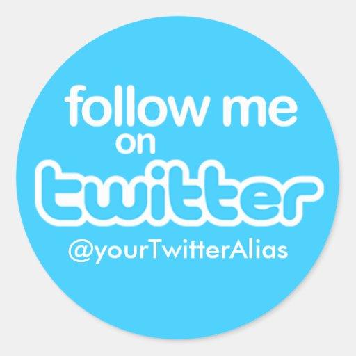 """Offizieller """"Follow-me auf Twitter"""" Aufkleber"""