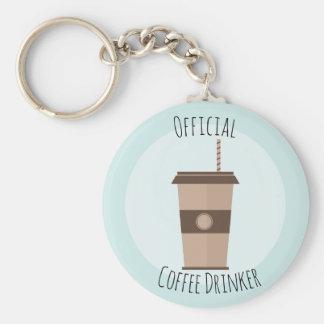 Offizieller Kaffee-Trinker Keychain Schlüsselanhänger