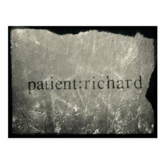 Offizieller Patient: Richard Merch Postkarten