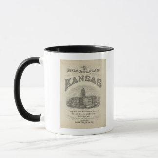 Offizieller Staats-Atlas Titelblatt-Kansas Tasse