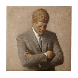 Offizielles das Haus-Porträt John F. Kennedy Kleine Quadratische Fliese
