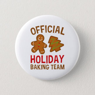 Offizielles Feiertags-Backen-Team Runder Button 5,1 Cm