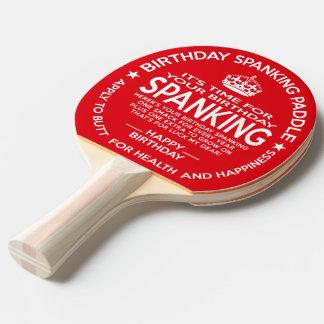 Offizielles Geburtstags-Prügel-Paddel Tischtennis Schläger