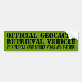 Offizielles Geocache Wiederherstellungs-Fahrzeug Autoaufkleber