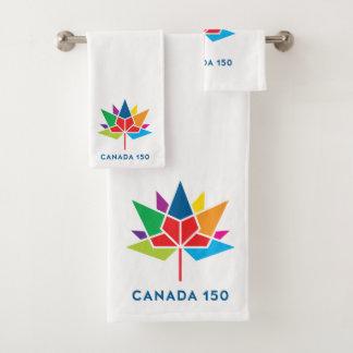 Offizielles Logo Kanadas 150 - Mehrfarben Badhandtuch Set