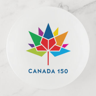 Offizielles Logo Kanadas 150 - Mehrfarben Dekoschale