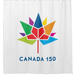 Offizielles Logo Kanadas 150 - Mehrfarben Duschvorhang