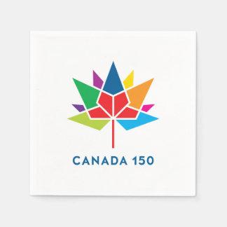 Offizielles Logo Kanadas 150 - Mehrfarben Papierserviette