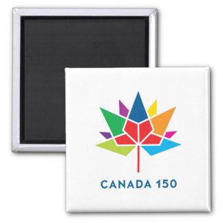 Offizielles Logo Kanadas 150 - Mehrfarben Quadratischer Magnet