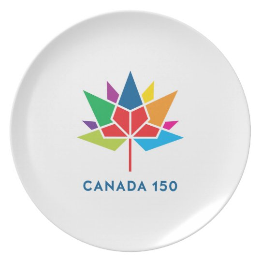 Offizielles Logo Kanadas 150 - Mehrfarben Teller