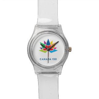 Offizielles Logo Kanadas 150 - Mehrfarben Uhr